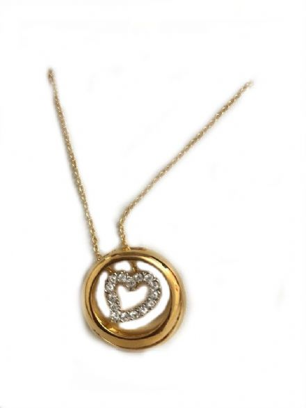 Inner Heart, 22ct Gold & Rhodium Plated Pendant